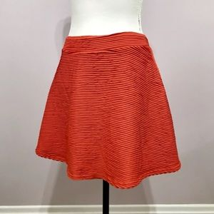 TOPSHOP Orange 3D Pull On Skater Skirt